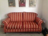 Lovely Regency Stripe Sofa and Armchair