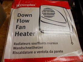 DOWN FLOW FAN HEATER BRAND NEW IN BOX 3 KW.IDEAL FOR A BATHROOM