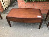 Stained oak coffee table TV stand side table