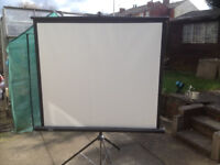 """67"""" Projector screens with built- in tripod . Brand new in boxes."""