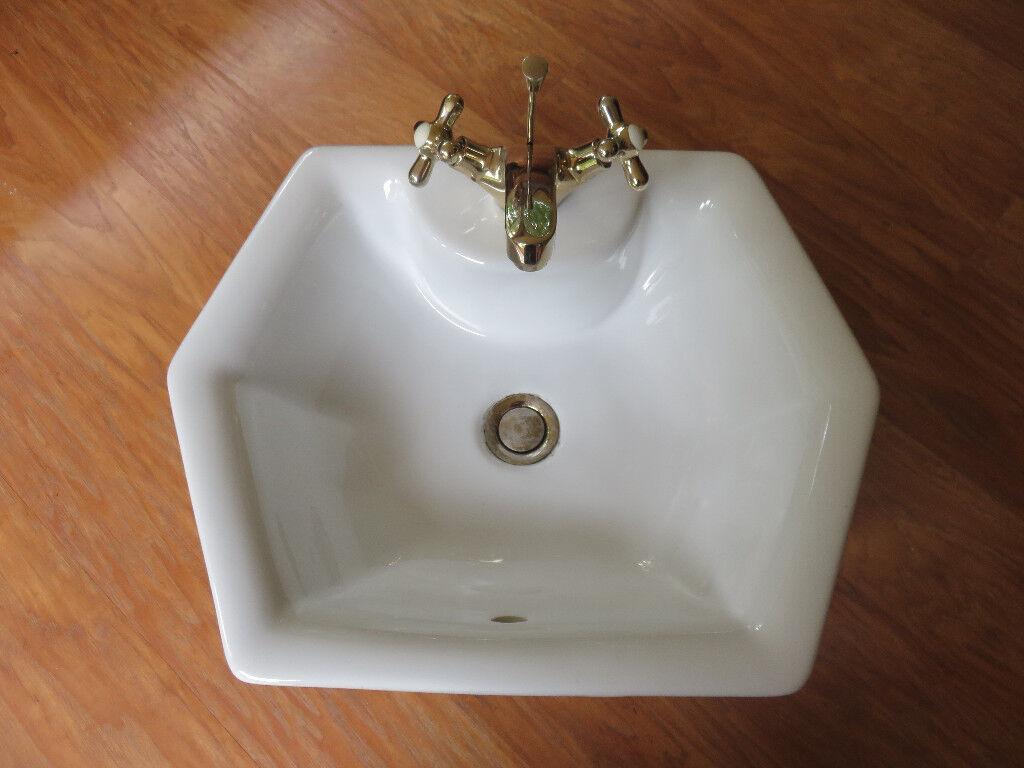 hexagonal wash hand basin | in kinross, perth and kinross | gumtree