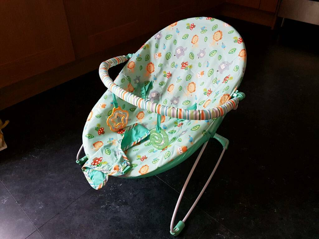 Bright Stars Jolly Safari Vibrating Baby Bouncer