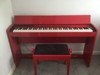 Roland f-120 digital piano (red)