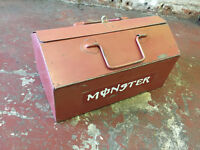 ROEBUCK (box 1) Vintage Metal Toolbox With Tray