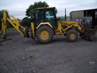backhoe digger mf 50hx vgc wheel drive xtra dig