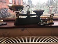 Traditional Victorian farm house scales and weights