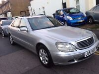 MERCEDES S320L AUTOMATIC 2002 LIMOUSINE LOW MILEAGE SAT NAV, RECLINER HEATED SEAT, GEARBOX ISSUES
