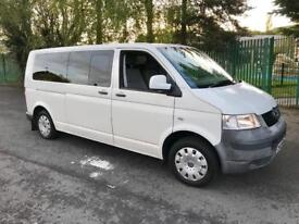 2008 Volkswagen Transporter T32 1.9 TDI LWB. 9 Seater. Wheelchair Lift Fitted. NO VAT!
