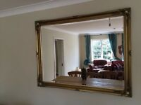 Beautiful golden wall mirrors