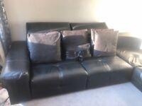 Large game leather sofa