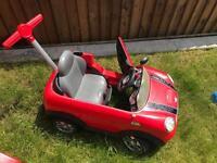 Children's toy push along car.