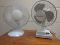 2 like new 9 inches fans