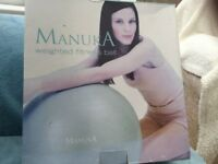 Manukau weighted fitness ball, 65 cm.