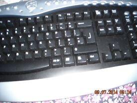 Multimedia computer keyboard
