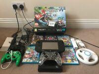 Nintendo Wii U 32GB Mario kart 8 edition Console Bundle *5 games, 4 controllers