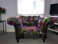 Alhambra multicoloured patchwork armchair chesterfield