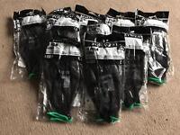 Black PU gloves size 9 large