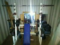 Multigym, home gym, power rack, weights, Olympic bar