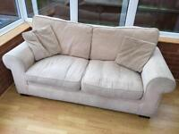 Sofa Bed two seater in beige