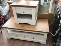 Littlewoods Coffee Table & Side Table White Oak Wood