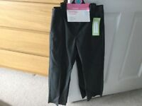 Two pairs of M&S girl's school trousers in grey. Age 5-6. Brand new with tags