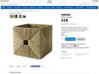 IKEA wicker baskets X 3 knipsa seagrass basket