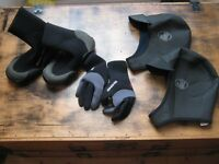 wetsuits gloves, boots and hoods