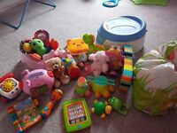 Mixed toys and potty