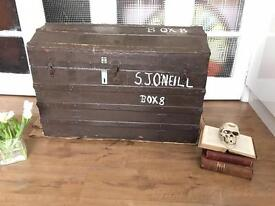 LARGE GENUINE 1920-1930S VINTAGE TRUNK CHEST STORAGE BOX 🇬🇧🇬🇧🇬🇧