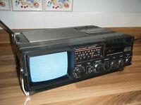 Vintage Saisho TCR 55 Television Radio Cassette Recorder Player
