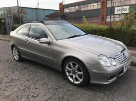 ***MERCEDES-BENZ C220 CDI COUPE AUTO+LEATHER TRIM+PAN ROOF+FULL SERV HIST***£2590!