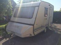 Adria four bith caravan