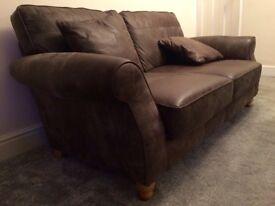 Ashford medium sized leather sofa from Next