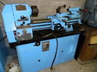 Viceroy metal lathe. Lovely machine. 3 phase. comes with stand