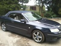STUNNING LOOKING 53 REG DARK BLUE SAAB 9-3 VECTOR CONVERTIBLE - SELLING AS SPARES AS NOT STARTING!