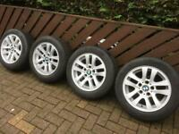 As new Winter Tyres in BMW Alloys