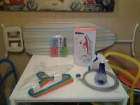 ALL NEW+UNUSED WASHING+IRONING ESSENTIALS INC. IRONING BOARD