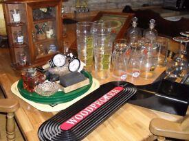 BAR STUFF MAN CAVE GLASS,S/MATS/TRAYS/ECT