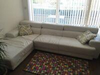 White leather corner sofa £130