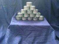 22 black and silver tea light holders
