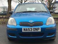 TOYOTA YARIS 1.3 * 5 DOOR * PETROL * LONG MOT * 1 OWNER FROM 2003 * PX * DELIVERY *