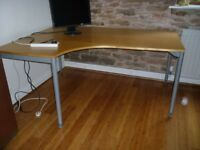 Ikea curve fronted office desk
