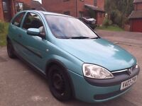 VAUXHALL CORSA ELEGANCE 16V FOR SALE - STARTS EVERY TIME, VERY REALIABLE