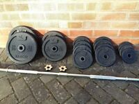 DOMYO WEIGHTS SET WITH BARBELL