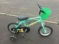 10inch bicycle with stabilisers