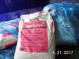 Over ordered Ardex X 77 -20 kg x 5 bags - speciality waterproof Flexible wall & floor tile adhesive.