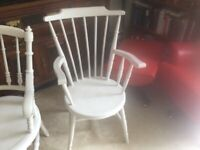 2 solid antique chairs shabby chic