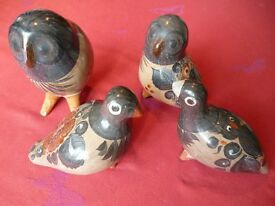Tonala Mexican Pottery Birds