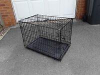 Amazon double door folding metal dog crate used once mint