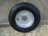 trailer wheel 10 inch 145r10 84/82n 5.5 pcd new and unused